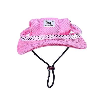 UEETEK Pet Dog Sunbonnet Mesh Porous Sun Cap Hat