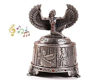 cuzit Metal Niñas caja de música de la antigua Grecia Teniendo Dreams de alas envejecido Vintage
