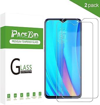 PaceBid [2 Pack Protector de Pantalla Realme 3 Pro, [Dureza 9H ...