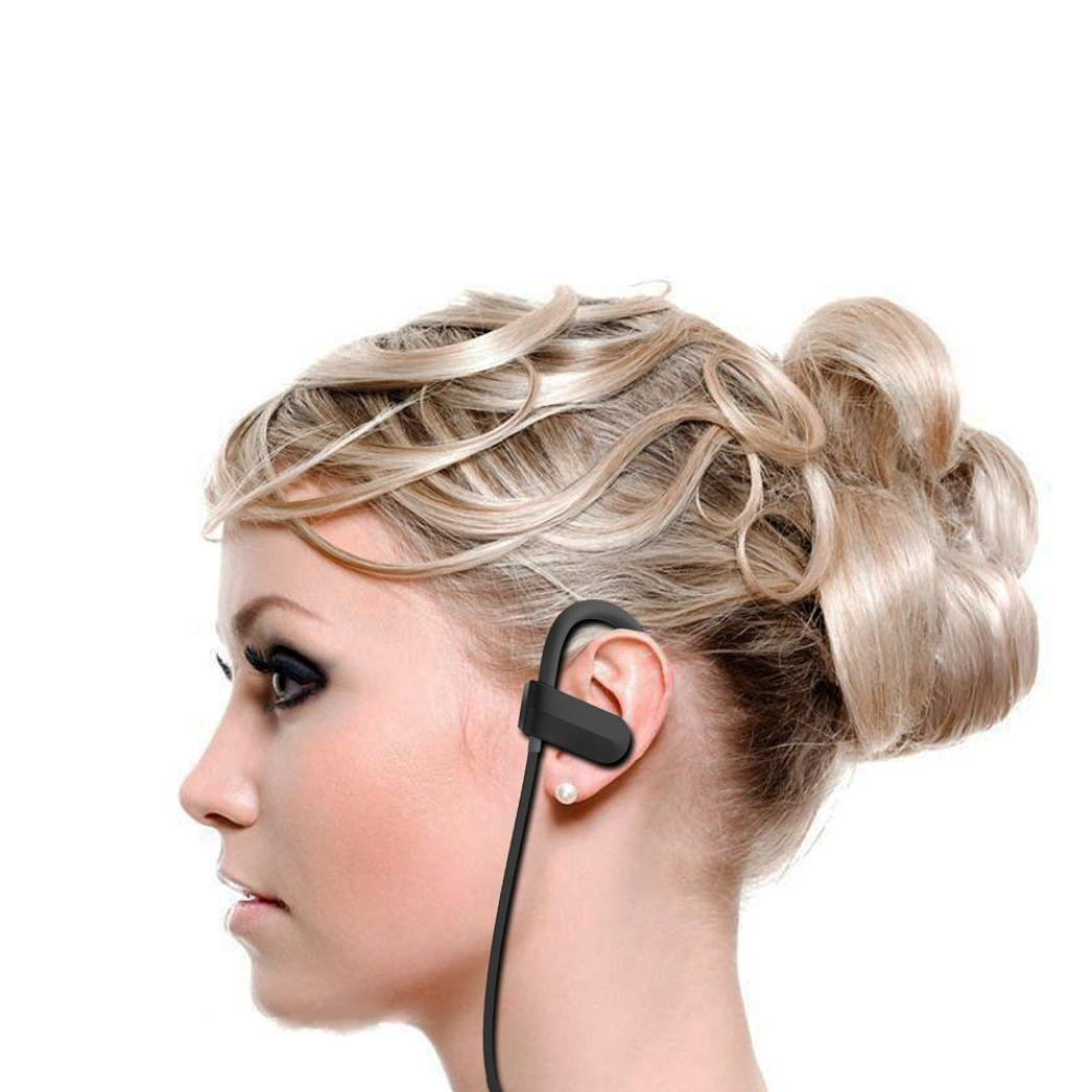 nesee inalámbrica Bluetooth auriculares en oreja Auriculares V4.1 Deportes Auriculares a prueba de sudor, ajuste seguro auriculares Bluetooth para correr, ...