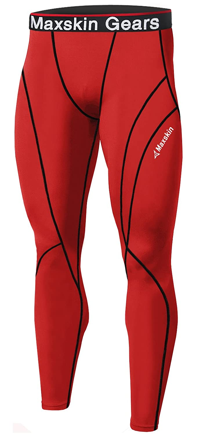 05b10f6595ef6 Amazon.com: JustOneStyle New Men Skin Tights Compression Base Under Layer  Sports Running Long Pants: Clothing