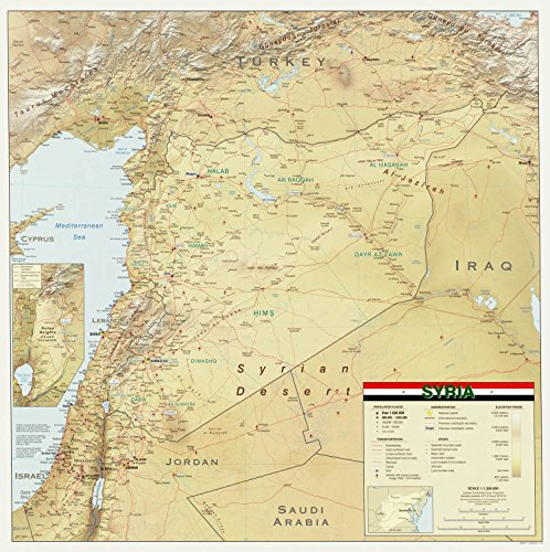 Map Poster - Syria. 24 X 24