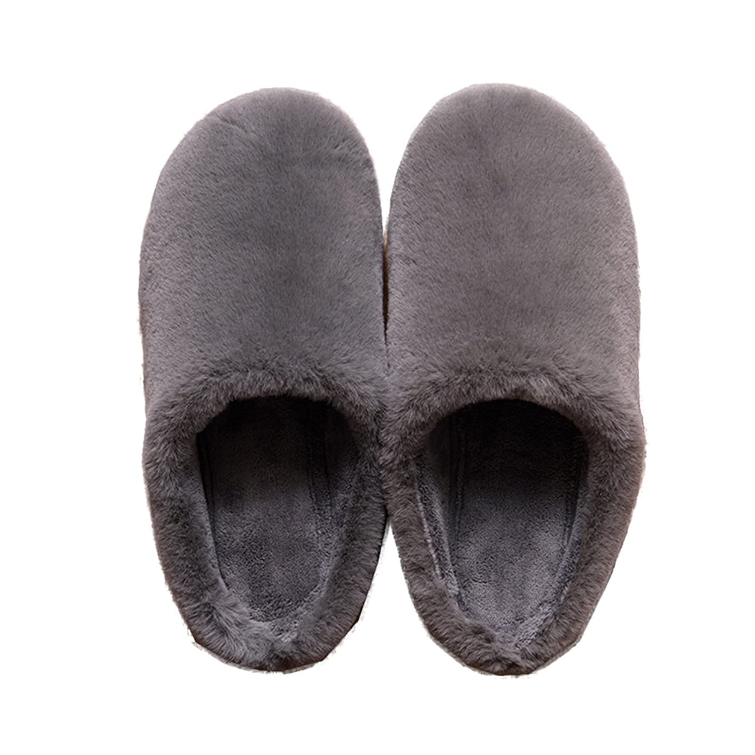 839f30a08beb2 TELLW Men and Women Winter Warm Slippers Plush Cotton Woolly Slippers  Indoor Soft permeability Furry Winter