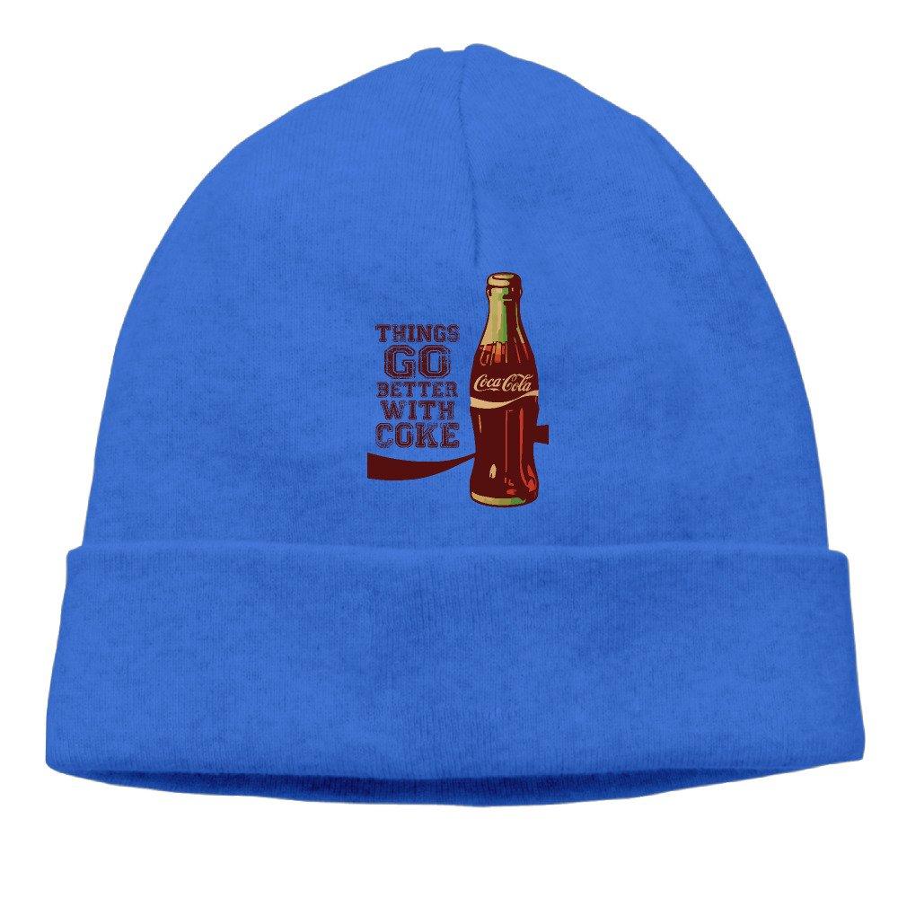 5700042a584fd Men Women Rhings Go Better With Coke Cola Beanies New Wool Caps Hats  Adjustable  Amazon.co.uk  Clothing