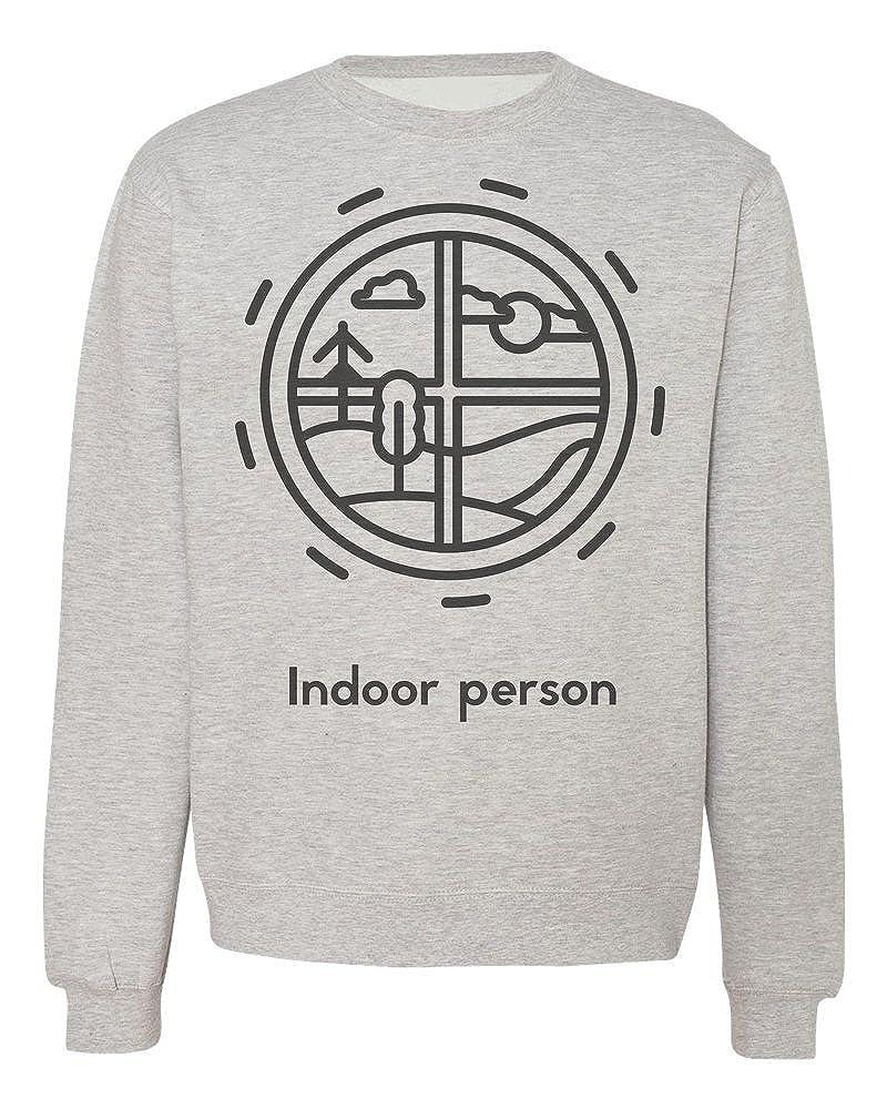IDcommerce Round Window View from Indoor Mens Womens Unisex Sweatshirt