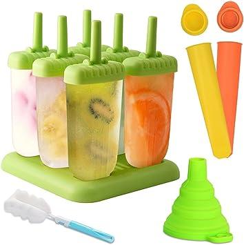 Molde para helados, Molde de polo de helado de 6 celdas + molde de ...