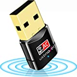 USB WiFi Adapter 600Mbps USBNOVEL Dual Band 2.4G / 5G Wireless WiFi Dongle Network Card for for Laptop Destop Win XP/7/8/10, Mac OS X 10.6-10.15,No CD Needed,Upgraded