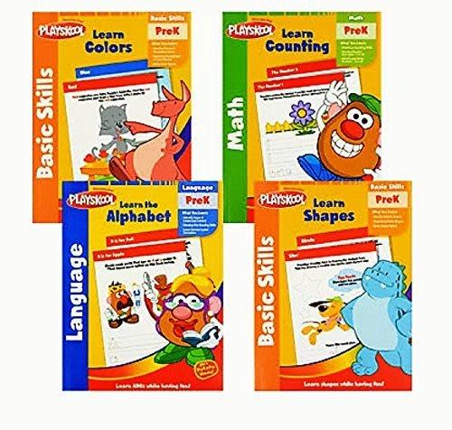 - Playskool PreK Preschool Basic Skills Workbooks 4-pack