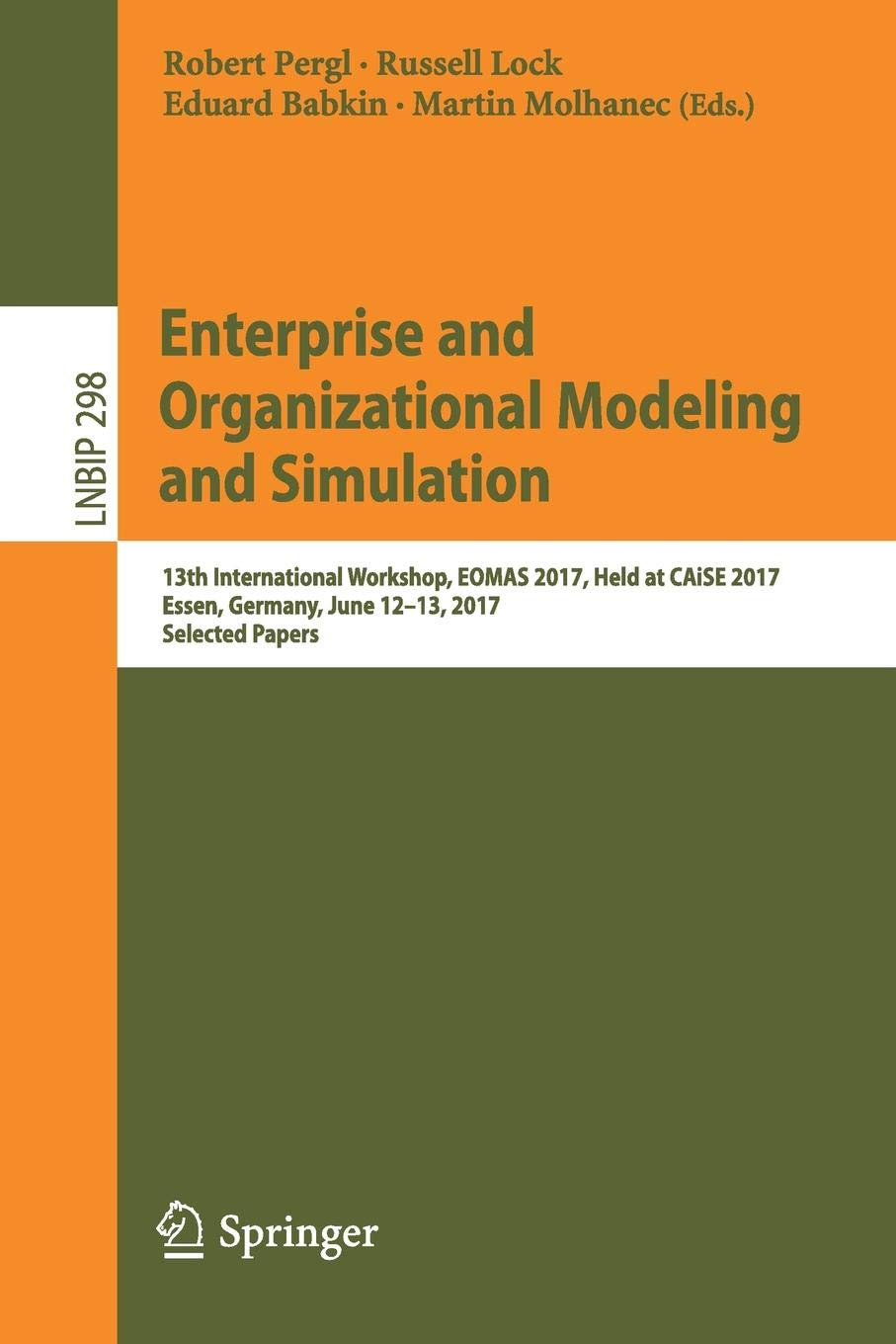 Enterprise and Organizational Modeling and