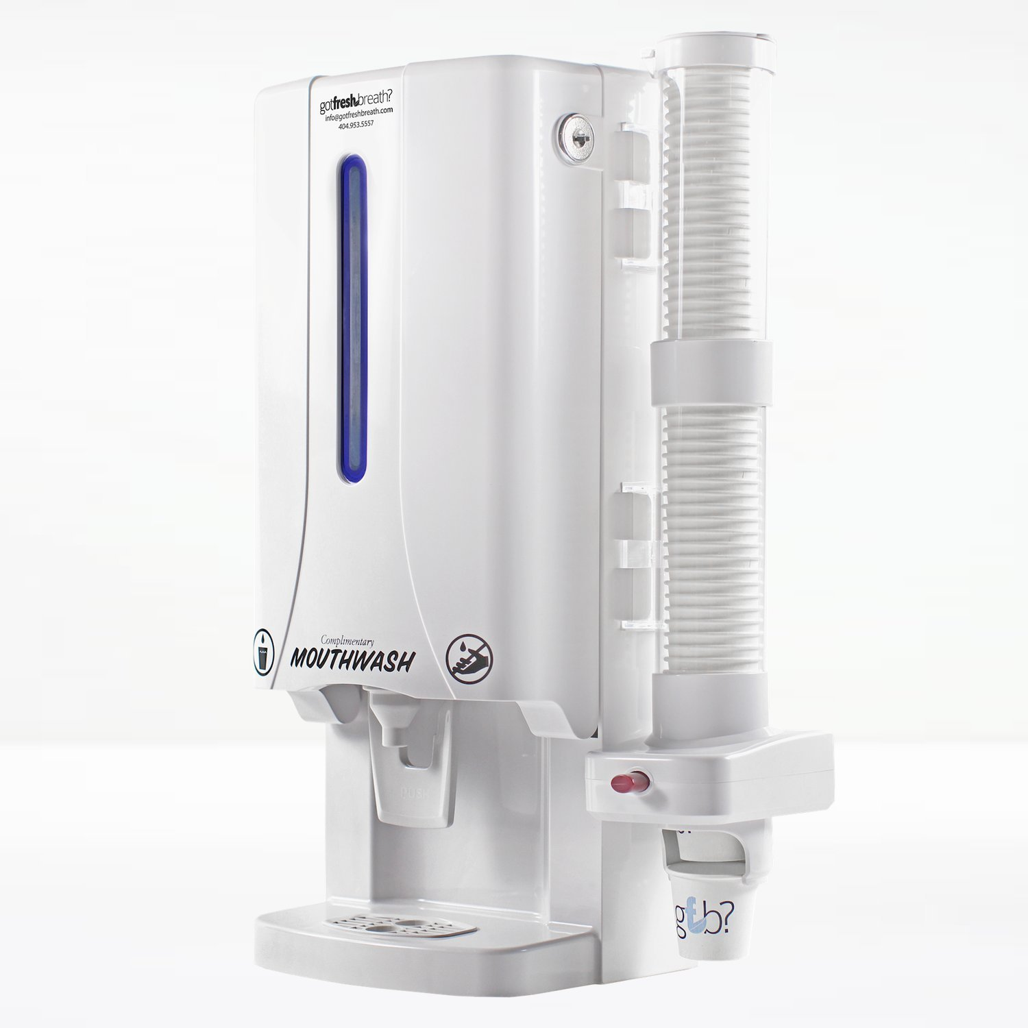 Mouthwash Dispenser Mini (White) - For GotFreshBreath Alcohol-free Mouthwash