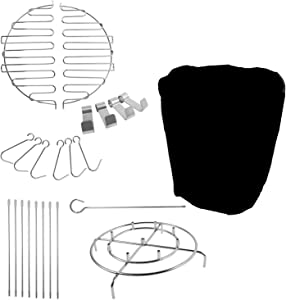 BBQ-PLUS Turkey Fryer Accessory Kit for Char-Broil The Big Easy with Water-Resistant 24 Inch Round Grill Cover