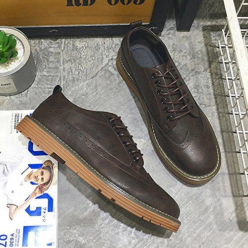 Soft Color uomo PU scarpe Oxfords BMD Marrone Business pelle Marrone Flats Scarpe EU stringati Dimensione Traspirante Mocassini Shoes da di 40 PU Casual OutSole w06Uz