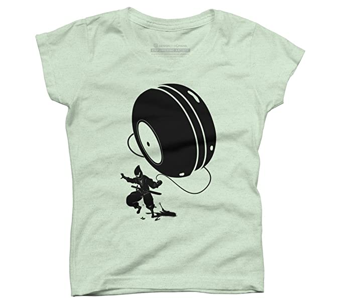 Amazon.com: Design By Humans Ninja Yo-Yo Girls Youth ...