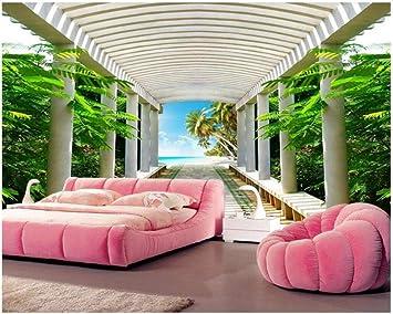 Papel tapiz personalizado foto 3d playa gazebo arquitectura ...