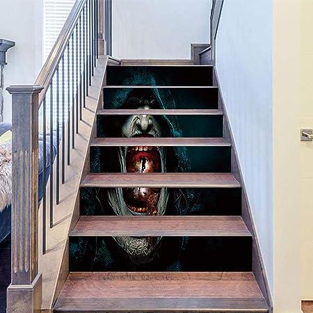 PMJAdd8s4 - Pegatina 3D para piso de escalera, diseño de cuervo con piedra de Tombstone para escalera,