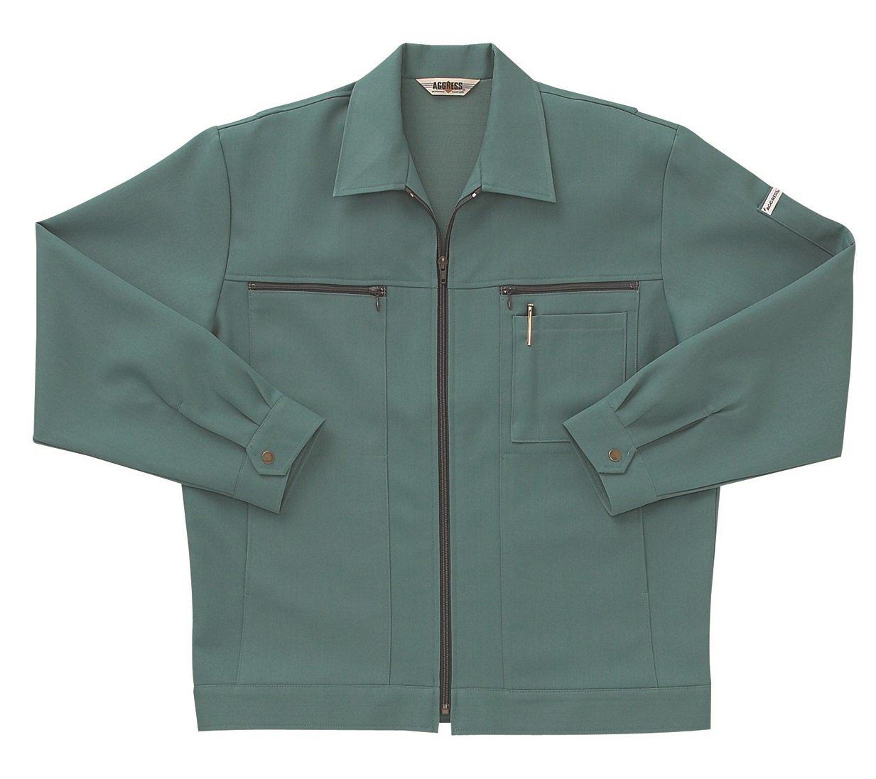 [サンエス]SUN-S【長袖ジャンパー】高級感ある杢調の二重織り裏綿素材《099-AG4010》 B00PUKE448 XL|47 アルペングリーン