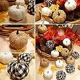 Ticlooc 12pcs Mixed Artificial Pumpkins Fake