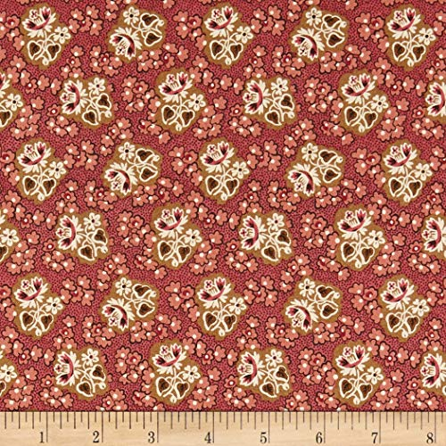 (Andover Windermere Corsage Fabric, Rose, Fabric By The Yard)