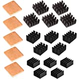Easycargo 20pcs Raspberry Pi 4 Heatsink Kit Aluminum + Copper + 3M 8810 Thermal Conductive Adhesive Tape for Cooling…