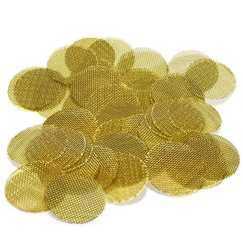 5000 Beamer Premium Brass Pipe Screens 0.625'' (5/8'') Inch Size + Limited Edition Beamer Smoke Sticker... by Beamer
