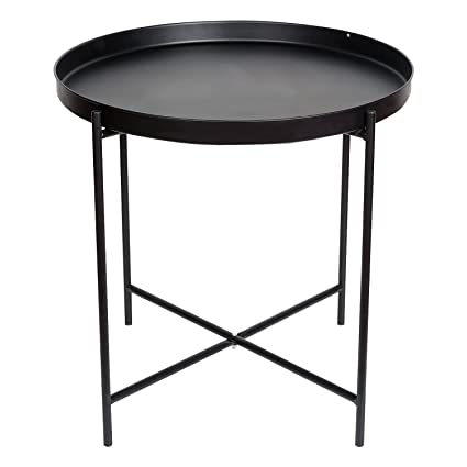 huge selection of 395c5 ed4d5 Amazon.com: HollyHOME Metal Folding Tray End Table, Armchair ...