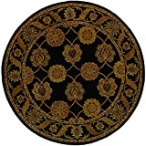 Cheap Safavieh Heritage Collection HG314A Handcrafted Traditional Oriental Black Wool Round Area Rug (6′ Diameter)