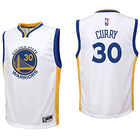 Outerstuff Stephen Curry Golden State Warriors NBA Kids 4-7 White Home  Player Jersey ( 9a851772d