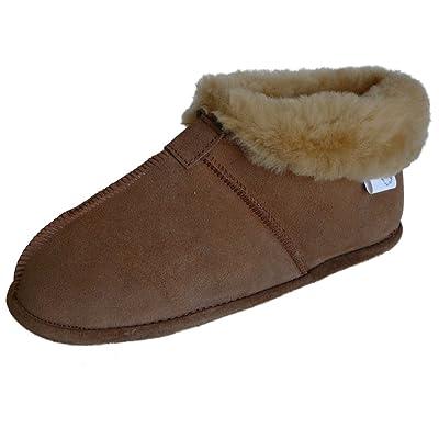 WoolWorks Model 9778 Mens Australian Sheepskin Slippers - Soft Leather Sole | Slippers