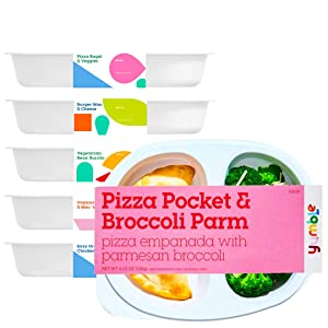 Yumble Frozen Kids' Lunch Box, Contains 6 Frozen Meals, Variety Pack, Picky Eater Approved Frozen Kids' Meals, Ready to Microwave Frozen Food for Kids, Frozen Organic Breakfast and Lunch, Pack of 6