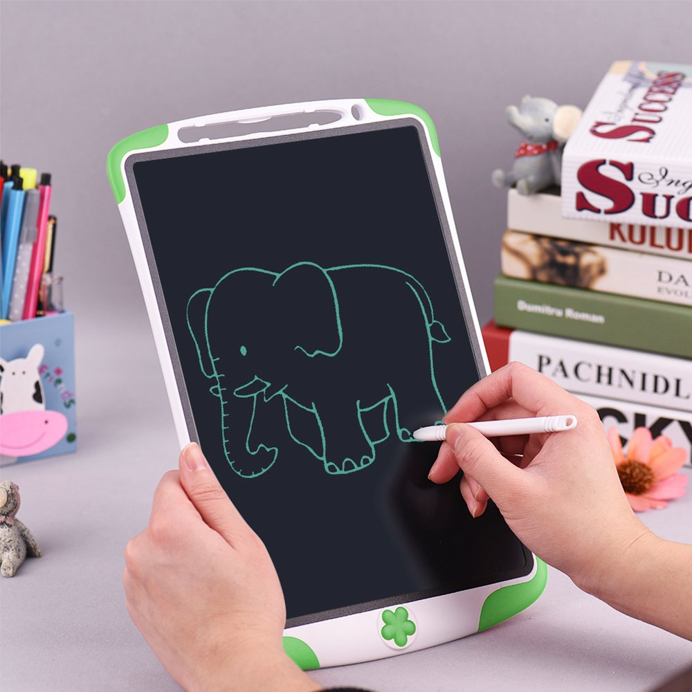 Electronic Tablet Board, Digital Drawing Tablet Handwriting Pads, 10 inch Portable Electronic Tablet Board for Kids, Family, Adult Doodle/Graffiti/E-Writing with Random Stencil (Green) by Dust2Oasis (Image #3)