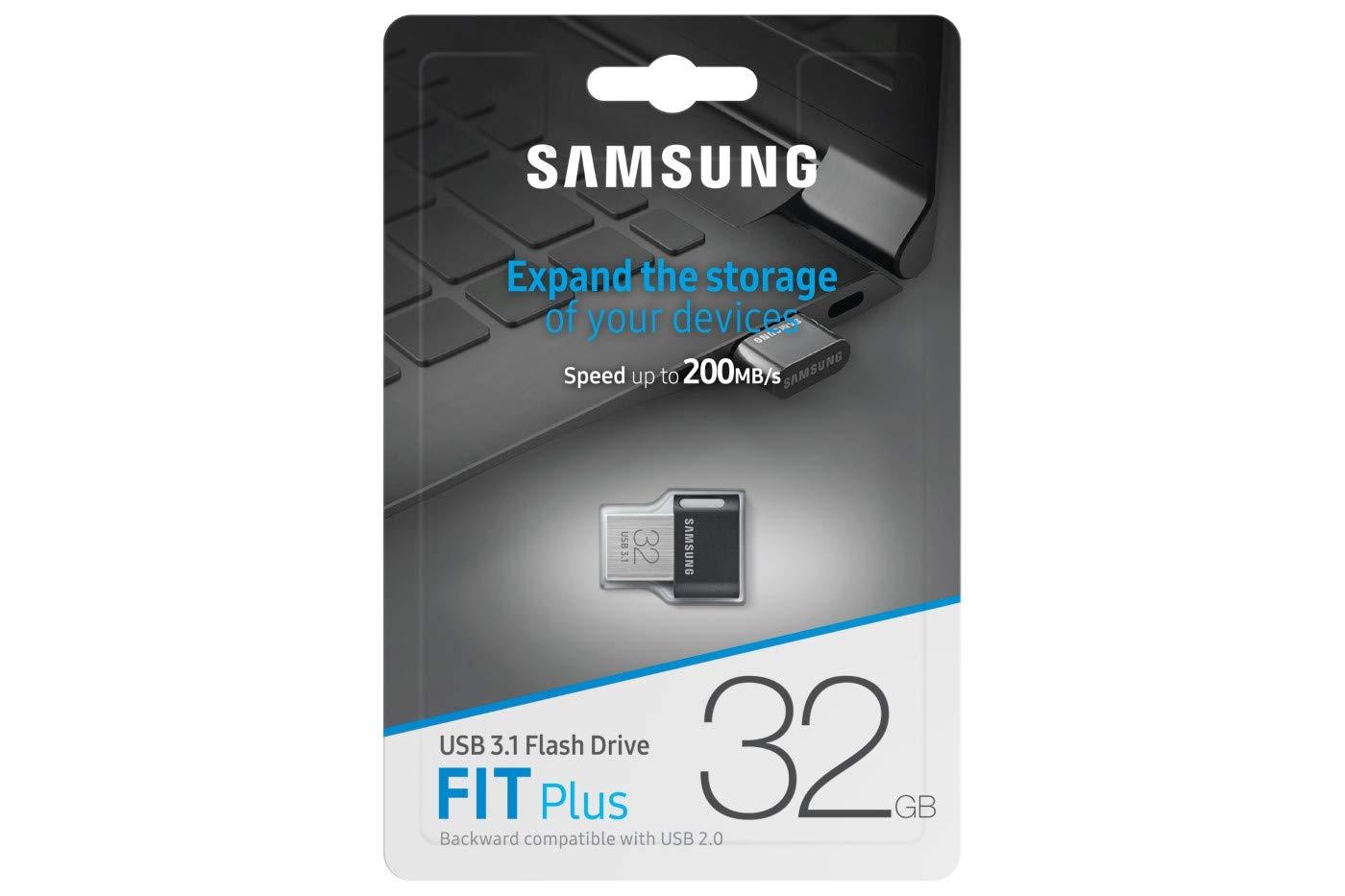Acero Inoxidable Unidad Flash USB 3.1 Gen 1 32 GB, 3.1 , Conector USB Tipo A, Girar, 3,1 g, Negro, Acero Inoxidable Samsung MUF-32AB 32GB 3.1 Conector USB Tipo A Negro 3.1 Gen 1 Memoria USB