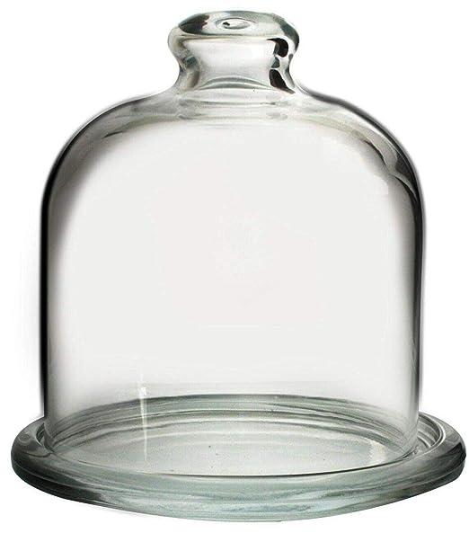 Pasabche - Juego de cúpula y plato de cristal para magdalenas y ...
