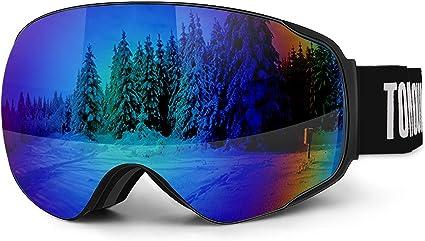 jeunes adultes femmes Lunettes de ski /à double couche OTG Snowboard Lunettes anti-bu/ée UV400 Protection Casque compatible ski pour hommes