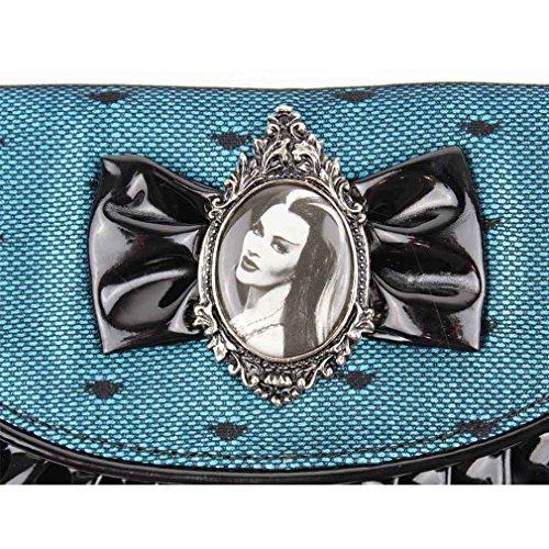 The Munsters donna gotico alalal vernice miniportafoglio con fiocco e cammeo - Lily Lace And Bow portamonete