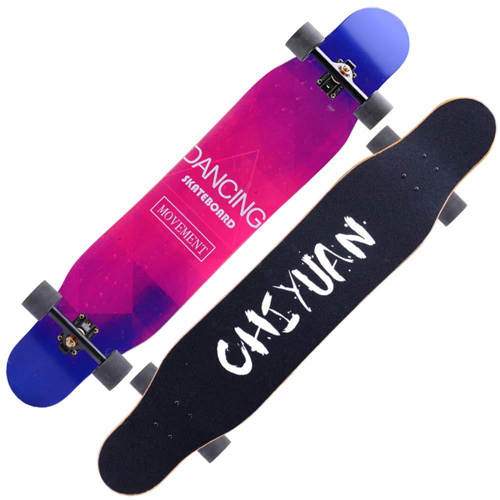四輪バランススクーター、男性と女性のロードスケートボードのブラシストリートダンスロングボード、10代の若者に適した、大人ZDDAB B07MSC449N 6 6