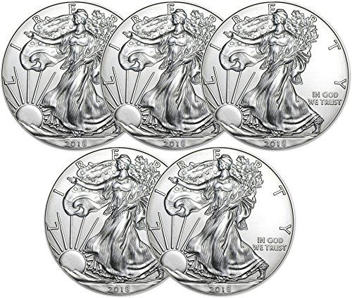 (2018 American Silver Eagle Five Coins Uncirculated)