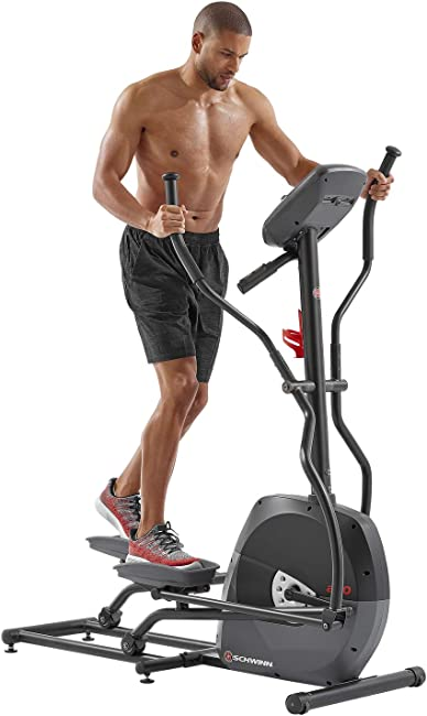 side facing schwinn elliptical machine series