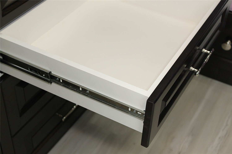 Lot de 1 Coulisse de tiroir SOFT-CLOSE tiroir montage lat/éral H45 L-500