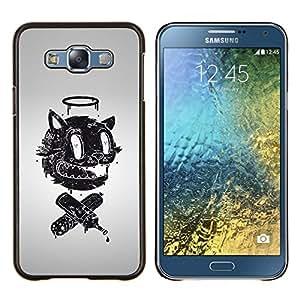 Eason Shop / Premium SLIM PC / Aliminium Casa Carcasa Funda Case Bandera Cover - Divertido retro abstracto Cara - For Samsung Galaxy E7 E700