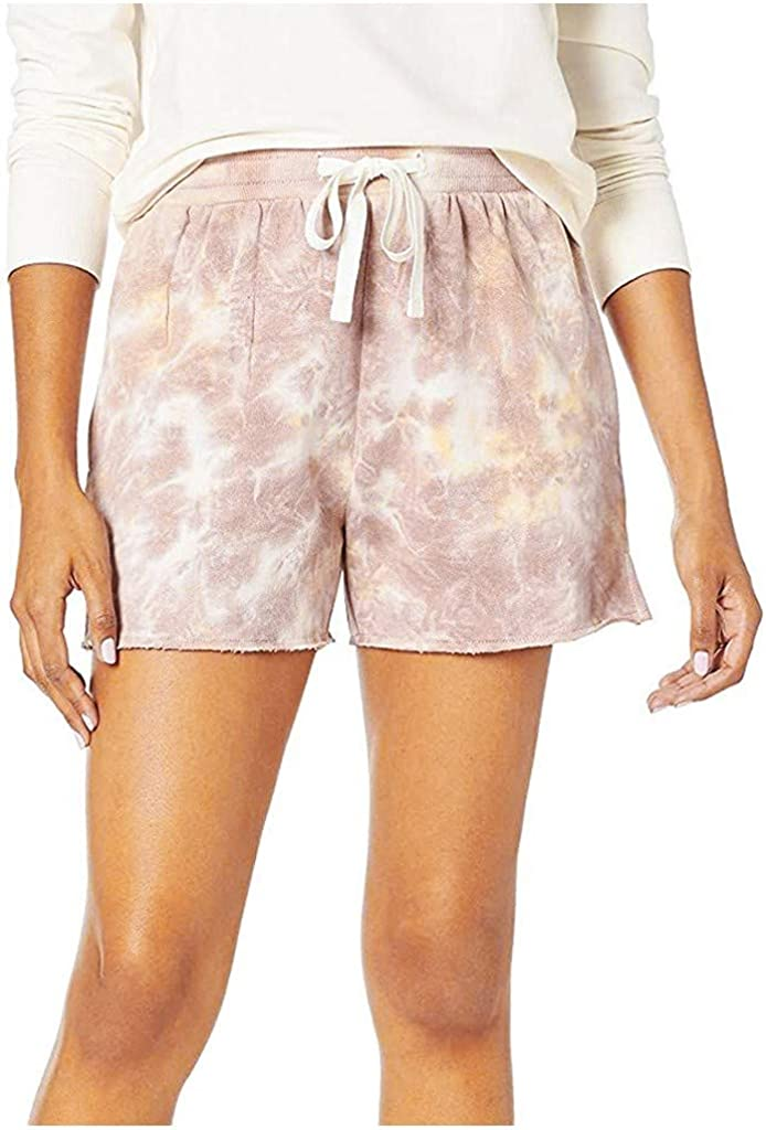 Womens Drawstring Plus Size Shorts Solid//Tie Dye Shorts Pocketed Casual Elastic Waist Summer Shorts