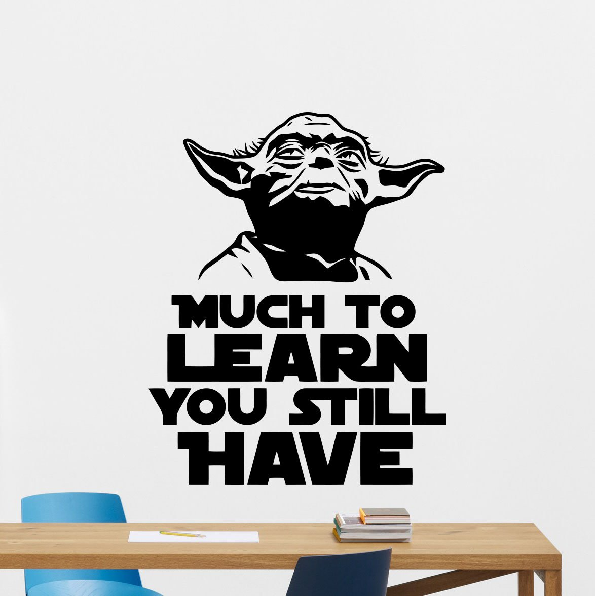 Amazon Jedi Master Yoda Wall Decal Star Wars Quote Much To