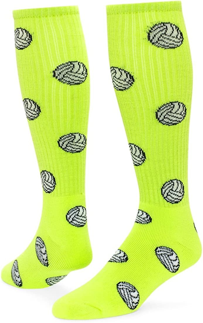 White // Neon Green // Pale Pink - Medium Red Lion Socks Cyclone Athletic Socks
