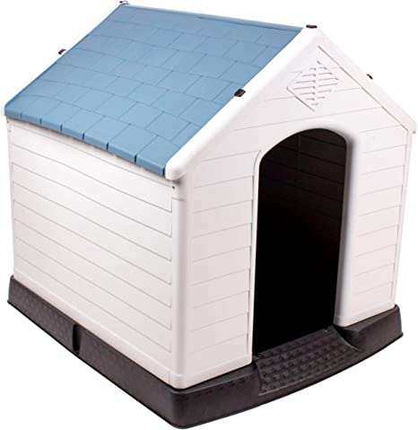 Amazon.com: 442 Trade Pet caseta de perro de plástico ...