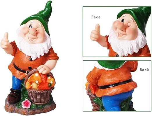 HomDSim - Figura decorativa de gnomos de jardín (27,9 cm), Gnomo de setas: Amazon.es: Jardín