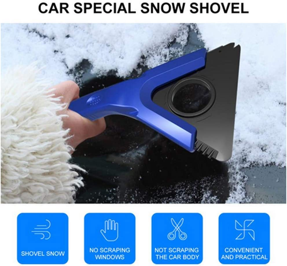 TRADERPLUS Waterproof Ice Scraper Mitten Snow Remover Glove with Lined of Thick Fleece for Car Windshield