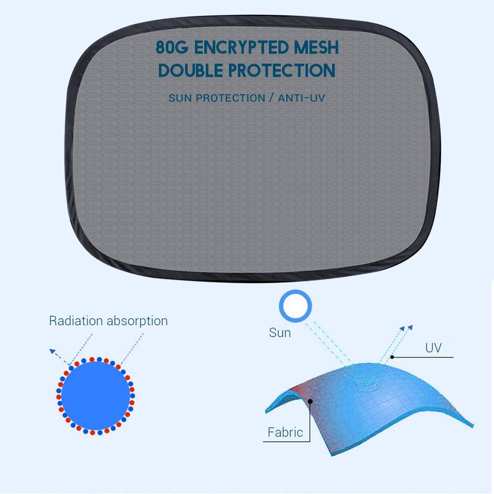 Surenhap Parasol para ventanilla de Coche Sombrillas Beb/é Universal Cortinas para el Sol Bloqueos nocivos Rayos UV Calor del Sol para Ni/ños Beb/é Mascotas