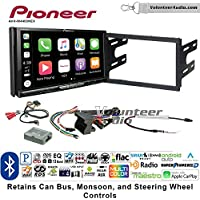 Volunteer Audio Pioneer AVH-W4400NEX Double Din Radio Install Kit with Wireless Apple CarPlay, Android Auto, Bluetooth Fits 2003-2005 Volkswagen Golf, Jetta, Passat with Amplified Systems