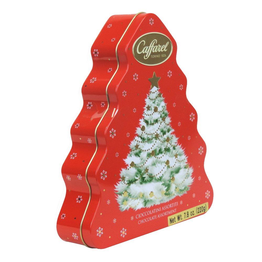 Caffarel - Chocolate Assortment - Christmas Tree Tin - 220g (Case of 4)