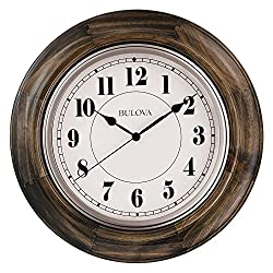 Bulova Albany Wall Clock, Brown