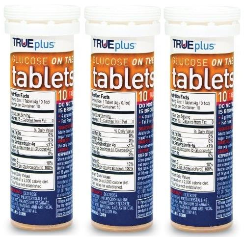 TRUEplus® Glucose Tablets, Orange, 10 count tube (3)